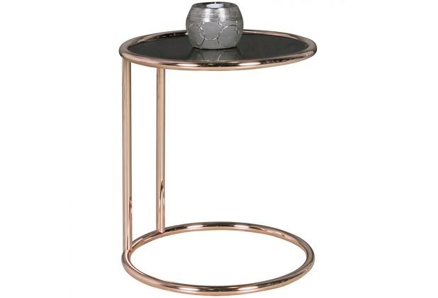 Beistelltisch Metall Rund ~ Wohnling design beistelltisch metall glas ø cm schwarz kupfer