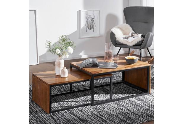 Mivholz Wohnzimmer | Wohnling Design Couchtisch 2er Set Wl5 649 Sheesham Massivholz