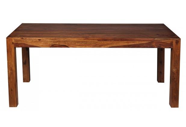 Design holztisch massiv  Wohnling Design Esstisch Massiv 180 x 80 x 76 cm Sheesham Massivholz ...