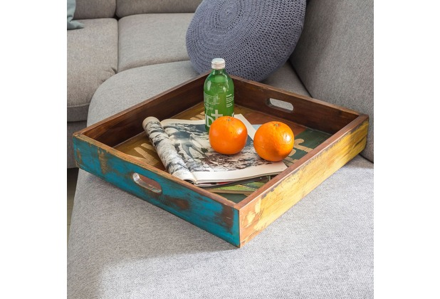 wohnling design holztablett surat 43x43x7 5 cm mit rand tablett massivholz betttablett holz. Black Bedroom Furniture Sets. Home Design Ideas