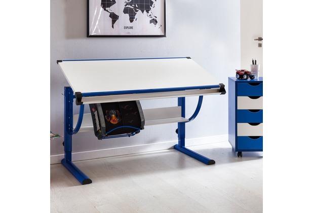 Kinderschreibtisch design  Wohnling Design Kinderschreibtisch MORITZ Holz 120 x 60 cm blau ...