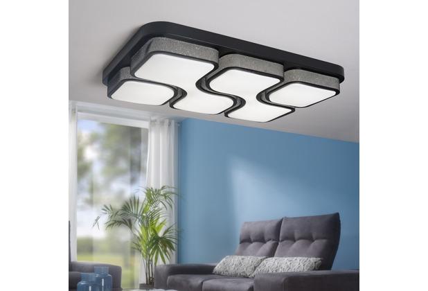 Wohnling design led deckenleuchte geometric deckenlampe schwarz 48w