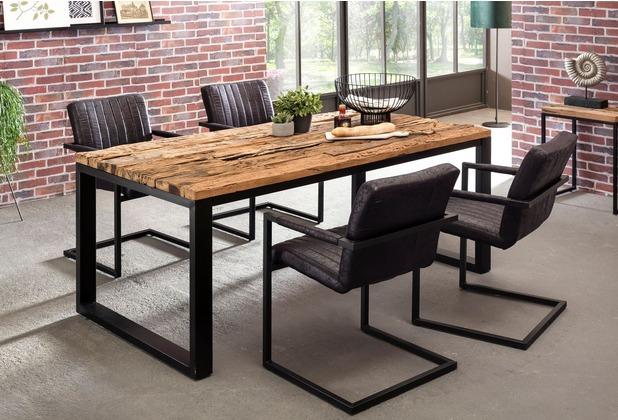 Wohnling Esstisch BELLARY 200x100x76 Cm Esszimmertisch Modern, Design  Küchentisch Massiv Groß, Massivholztisch Esszimmer Industrial