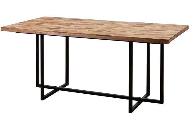 Nice Wohnling Esstisch KANAM Massivholz / Metall 200x78x100cm Industrial Tisch  Groß, Esszimmertisch Massiv Akazie Mango,