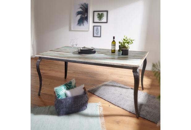wohnling esstisch lina massivholz shabby chic 180x77x90 cm esszimmertisch modern design. Black Bedroom Furniture Sets. Home Design Ideas