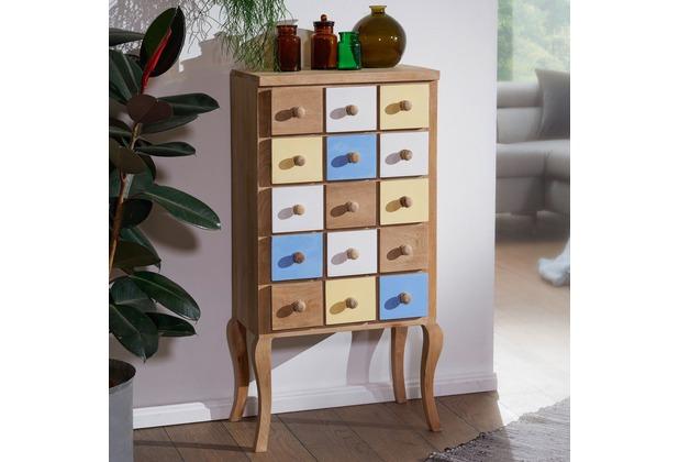 Wohnling Highboard Farid 50x100x30 Cm Retro Stil Mango Massivholz