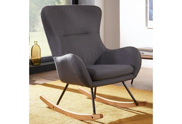 Wohnling Schaukelstuhl Rosie Grau Design Relaxsessel 74 X 96 X 88 Cm