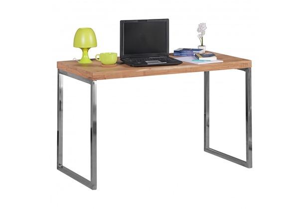 Wohnling Schreibtisch Guna Massivholz Akazie Computertisch 120 X 60