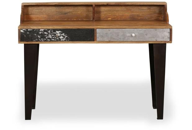 Wohnling Schreibtisch NEPAL 120x54x90 cm Massivholz Computertisch Echtholz  Büro, Sekretär Design Ablage Modern Rechteckig, Arbeitstisch Massiv ...