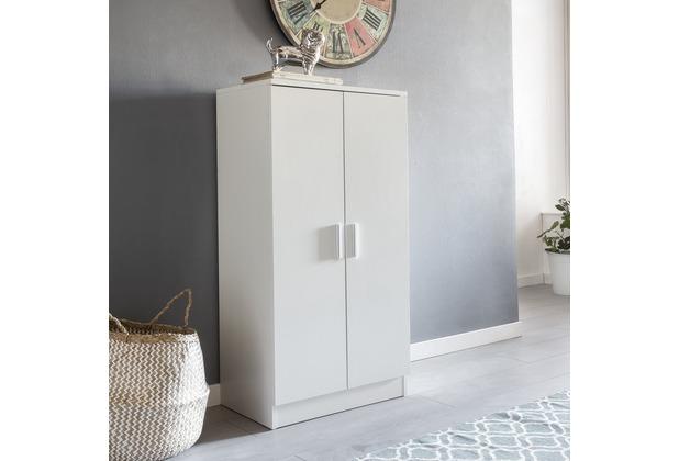 Wohnling Schuhschrank MARTIN mit 2 Türen Weiß 55x108x35 cm ...