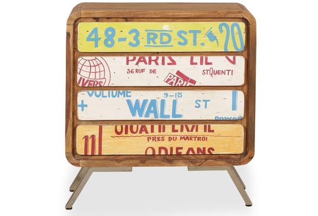 Wohnling Sideboard Aika 85x88x38 Cm Landhaus Stil Sheesham