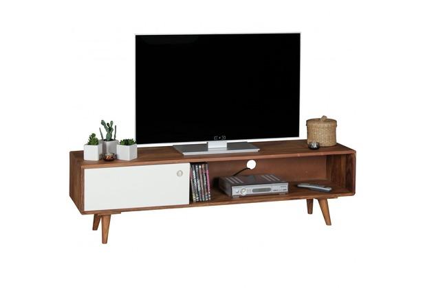 Wohnling TV Lowboard REPA Sheesham Massivholz mit 1 Tür 140 x 40 x ...