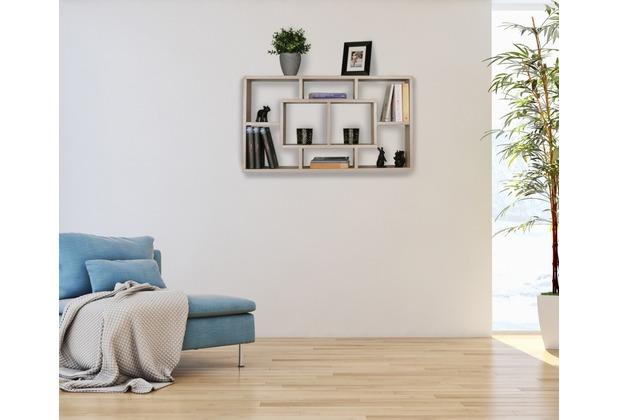 Wohnling Wandregal Alex Sonoma 85 X 475 X 16 Cm Mdf Holz Hängeregal Modern Design Wandboard Freischwebend Holzregal Offen Zum Hängen