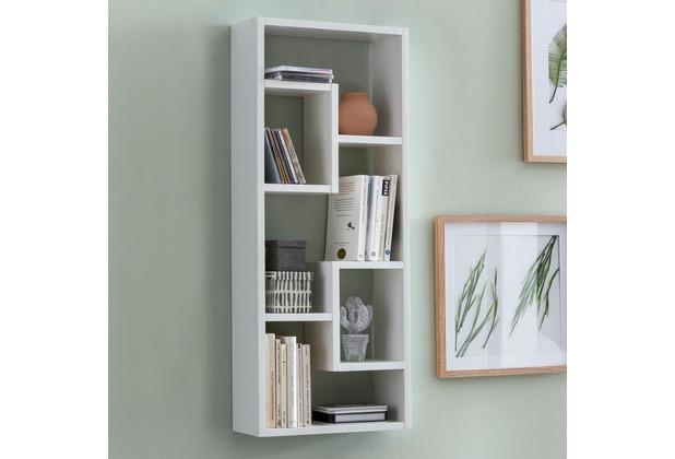 Wohnling Wandregal Rosalie Weiss 36x90x13 5 Cm Holz Design Hangeregal