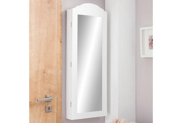 Wohnling Wandspiegel Wl5720 Schmuckspiegel Weiß 35 X 96 X 9 Cm