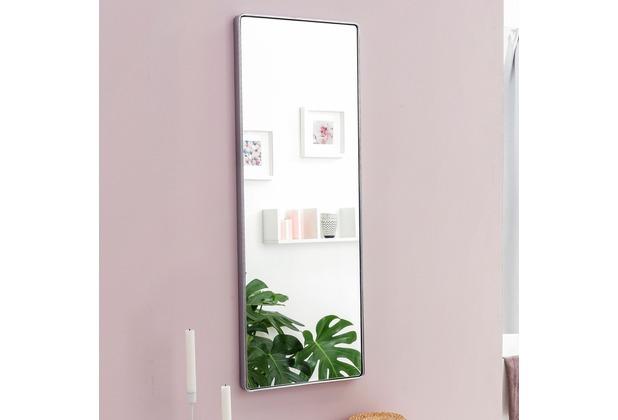 Wohnling Wandspiegel WL5.779 Silber 100x36x4cm Spiegel Modern Rahmen Groß,  Hängespiegel Schlafzimmer Rechteckig, Garderobenspiegel Flur zum Aufhängen  ...