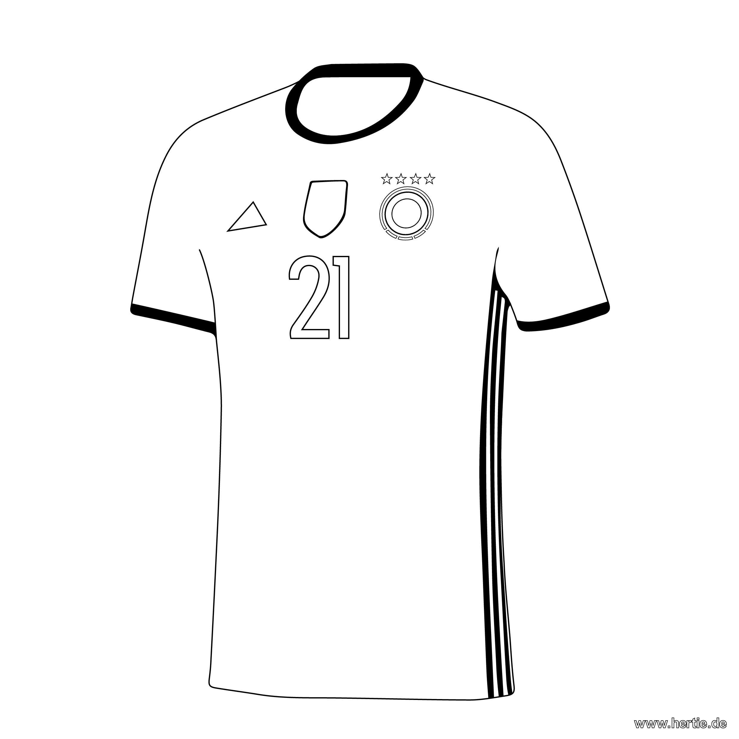 Malvorlagen Fussball T Shirt | My blog