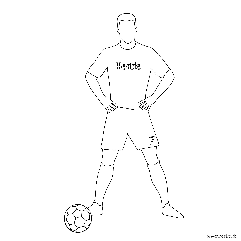 Fussballspieler Zum Ausmalen Zum Ausmalen Name